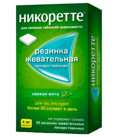 Жевательные резинки НИКОРЕТТЕ® - свежая мята, 4 мг