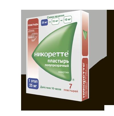 Инструкция по применению пластыря НИКОРЕТТЕ®