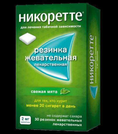 Жевательная резинка НИКОРЕТТЕ®